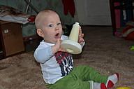 Сын Максим с любимой игрушкой