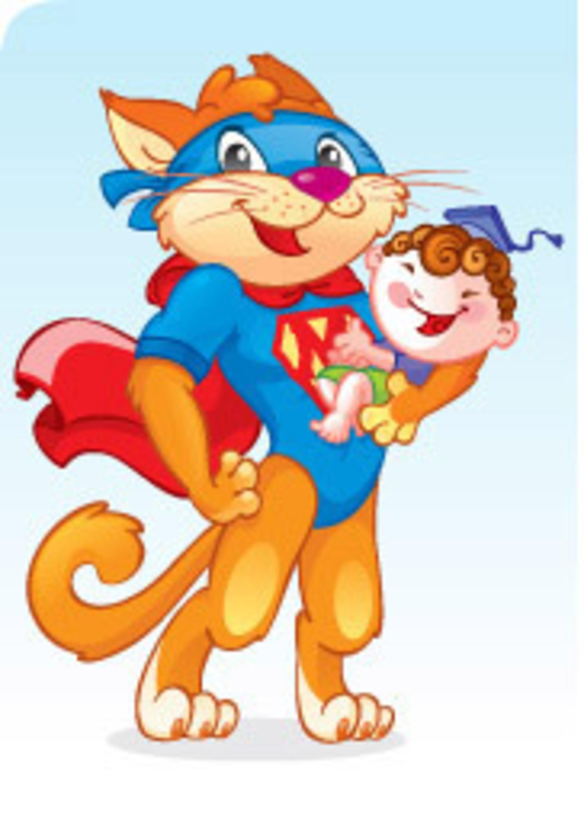 Детский рисунок Добрый Ученый Кот