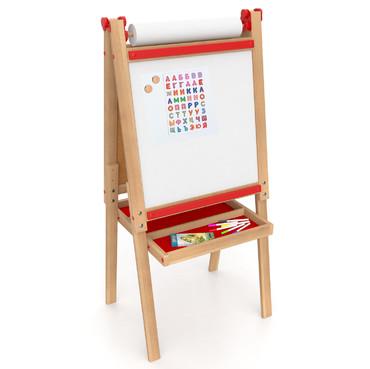 Детский мольберт двухсторонний, деревянный мольберт для детей