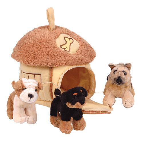 Игрушка мягкая Gulliuver (Гулливер) Домик-сумка с 3-мя собачками.