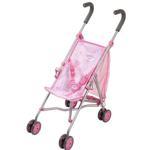 Игрушка Baby Born Коляска-трость (розовая с сеткой.