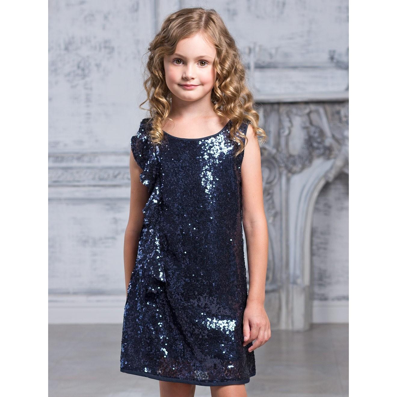 Платье с пайетками для девочки сшить 43