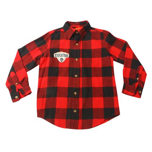 Рубашки в клетку красные 7